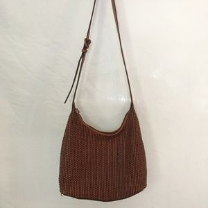 Woven Brown leather Bag